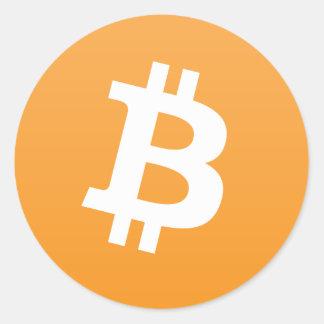 Round Bitcoin Logo/Sticker Round Sticker