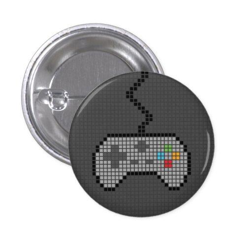 Round Blocky Gamepad Button with dark Background