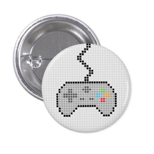 Round Blocky Gamepad Button with light Background