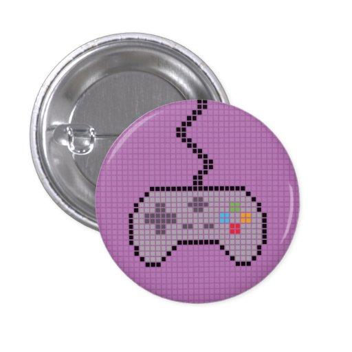 Round Blocky Gamepad Button with purple Background