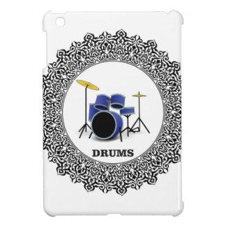 round blue drums iPad mini cases