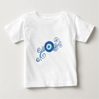 round blue evil eye baby T-Shirt