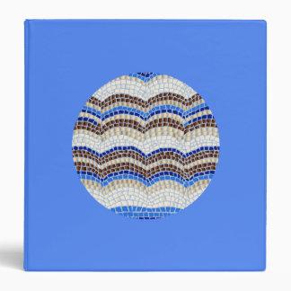 Round Blue Mosaic 1.5'' Binder
