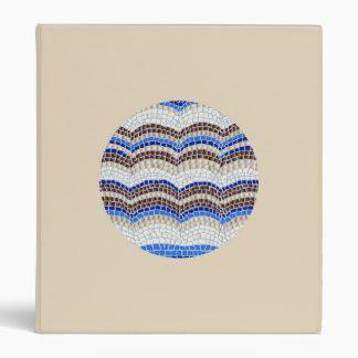 Round Blue Mosaic 1'' Binder
