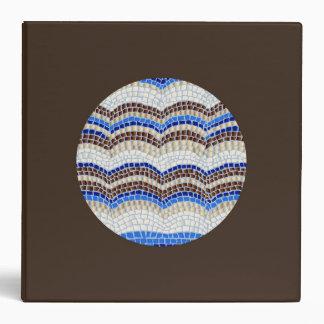 Round Blue Mosaic 2'' Binder