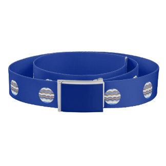 Round Blue Mosaic Belt