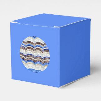Round Blue Mosaic Classic Favor Box