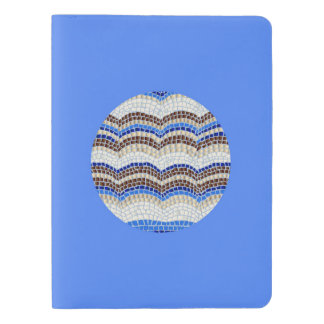 Round Blue Mosaic Extra Large Notebook