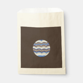 Round Blue Mosaic Favor Bag