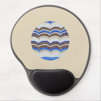 Round Blue Mosaic Gel Mousepad