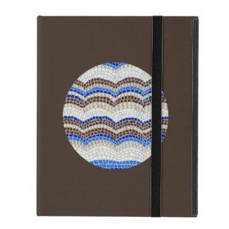 Round Blue Mosaic iPad 2/3/4 Case