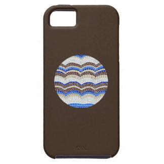 Round Blue Mosaic iPhone 5/5s/SE Case