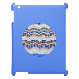 Round Blue Mosaic Matte iPad Case