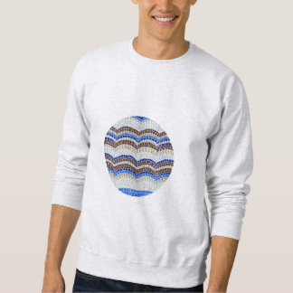 Round Blue Mosaic Men's Basic Sweatshirt