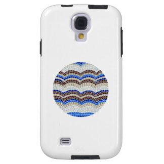 Round Blue Mosaic Samsung Galaxy S4 Case