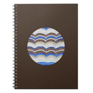 Round Blue Mosaic Spiral Notebook