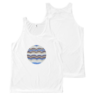 Round Blue Mosaic Tank Top