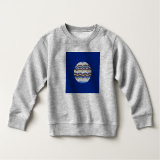 Round Blue Mosaic Toddler Sweatshirt