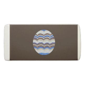 Round Blue Mosaic Wedge Eraser
