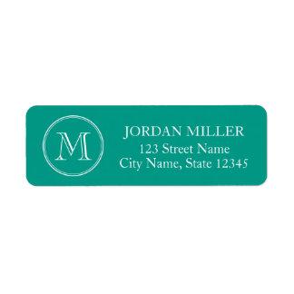 Round Border Monogram with Editable Color Address