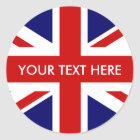 Round British Union Jack stickers | envelope seals