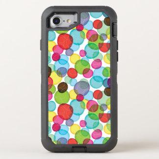 Round bubbles kids pattern 2 OtterBox defender iPhone 8/7 case