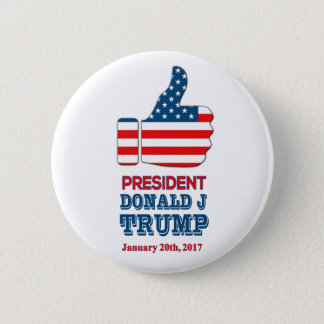 "Round Button 2.25"" Big Thumbs Up President Trump"