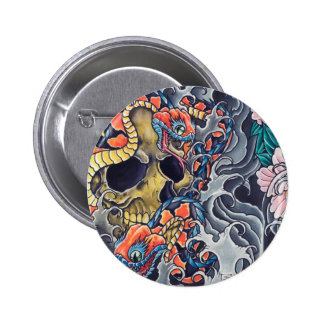 "Round button ""Abstract Tatoo """