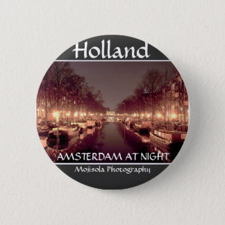 Round Button - Amsterdam At Night