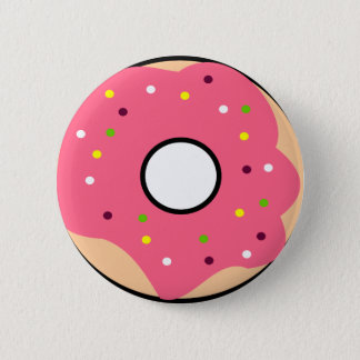 Round button Donut Pink