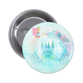 Round Button -  Magic Fairy Tale Princess Castle