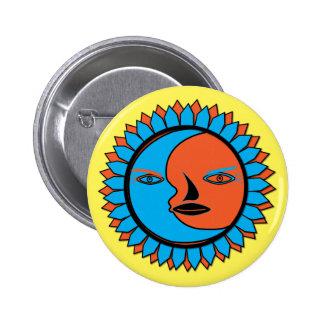 Round Button MOON SUN REFLECTION