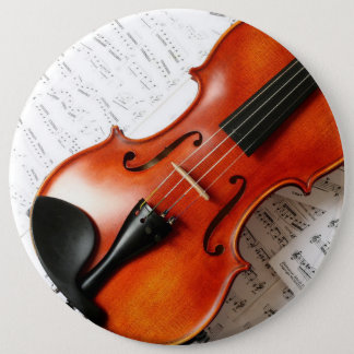 Round Button - Music Instrument Violin