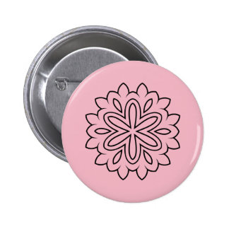 Round button with Mandala