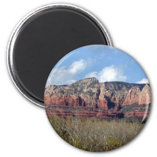 round button with photo of Arizona red rocks 2 Inch Round Magnet