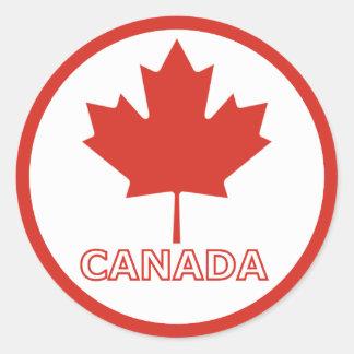 Round CANADA sticker