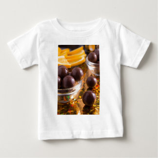 Round candy chocolate close-up baby T-Shirt