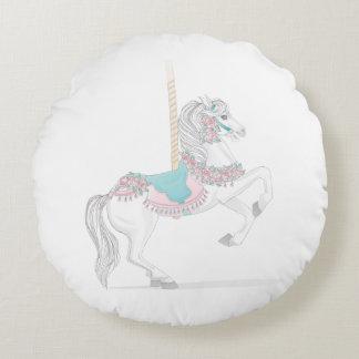 Round Carousel Horse Pillow