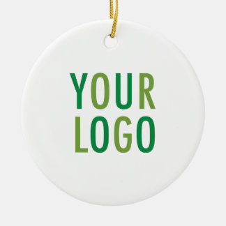 Round Ceramic Ornament with Custom Logo Branding