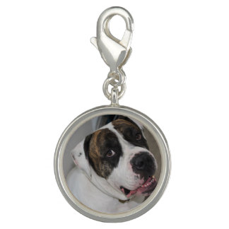 Round Charm, Argent Plated has to personalize Photo Charms