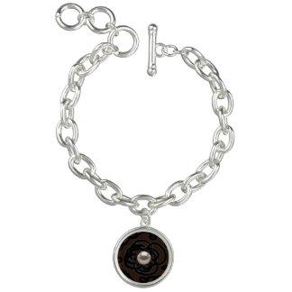 "Round Charm Bracelet ""Pearl Swirl"" brown"