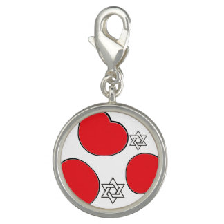 Round Charm, Silver Plated Charms