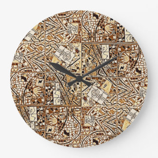 ROUND CHOCOLATE BROWN ABSTRACT CLOCK 2