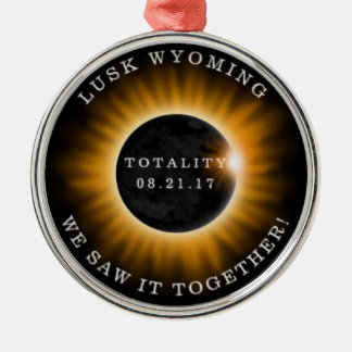 Round Christmas Ornament Memorabilia Solar Eclipse