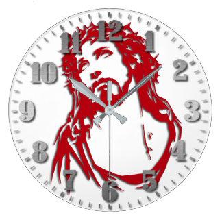 "Round clock of wall ""Jesus """
