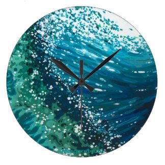 Round Coastal Wave Clock by Margaret Juul