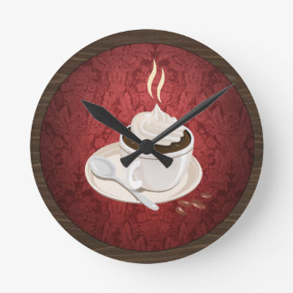 Round Coffee Cup Wall Clock