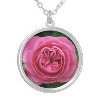 Round collar Macro Pinks Silver Plated Necklace