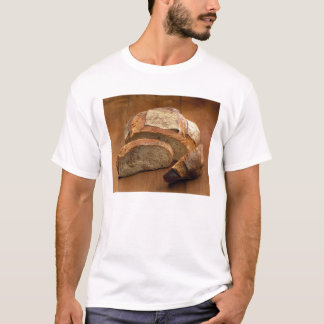 Round country-style bread cut in slices For T-Shirt