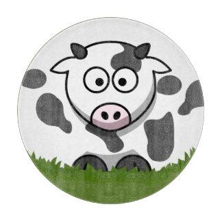 Round Cow Cutting Board